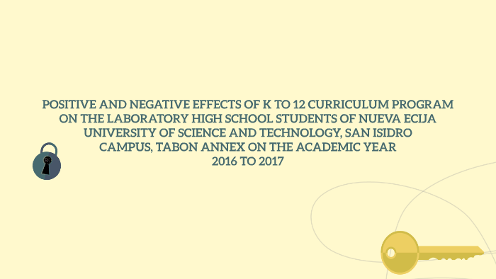 A research on the positive and negative impacts of technology to k 12 schools
