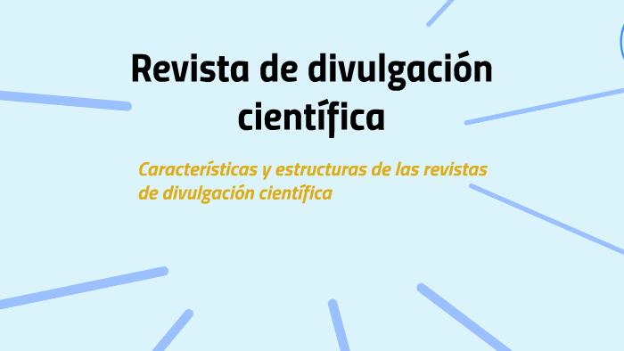 Características de una revista científica