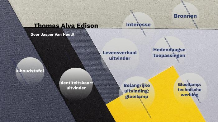 Thomas Alva Edison Door Jasper Van Houdt By Liesbet Rochette