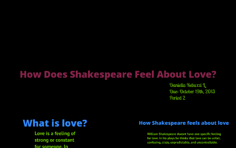 How Does Shakespeare Feel About Love? by Daniella Domenique