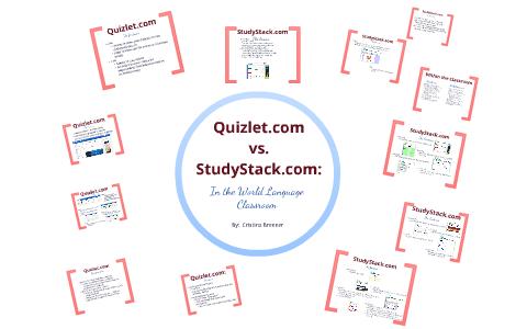 Quizlet com vs  StudyStack com by Cristina Brenner on Prezi