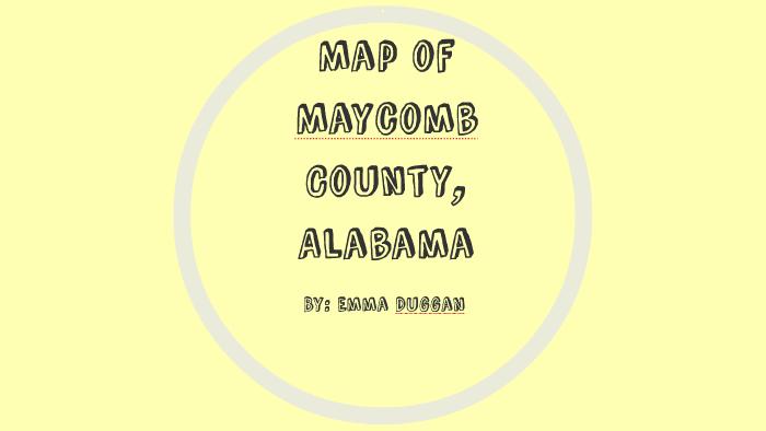 Map of Maycomb County, Alabama by Emma Duggan on Prezi