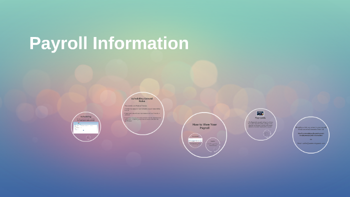 Payroll Information by Kendall Harmon on Prezi
