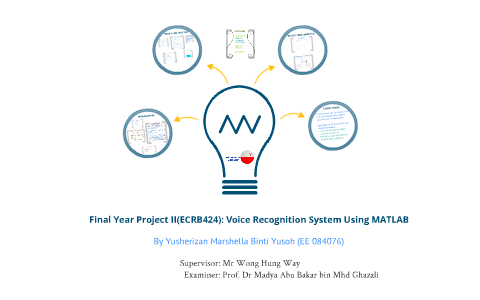 Final Year Project: Voice Recognition system using MATLAB by