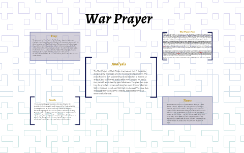 essay on the war prayer