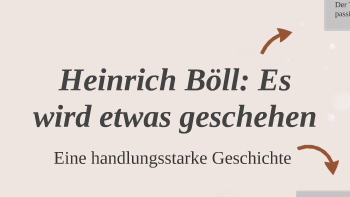 Heinrich Böll: Es wird etwas geschehen by Mariana Patricio