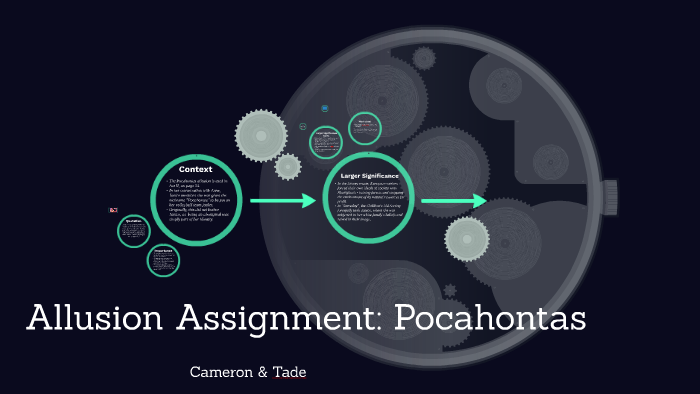 Allusion Assignment Pocahontas By Tade Pakbegi On Prezi