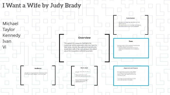Persuasive Essay Topics For High School Students  How To Start A Science Essay also Argumentative Essay Thesis I Want A Wife By Judy Brady By Vuthina Roeun On Prezi High School Vs College Essay