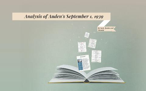 september 1 1939 auden summary