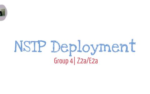 essay nstp deployment
