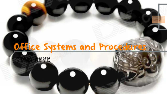 Office Systems And Procedures By