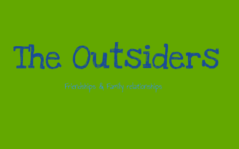 the outsiders friendship essay