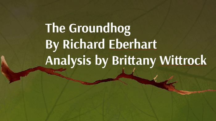 the groundhog richard eberhart