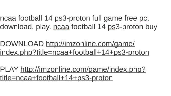 ncaa football 14 ps3 download