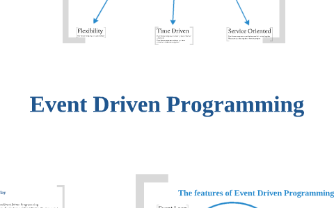 features of event driven programming