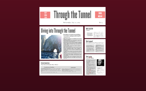 through the tunnel literary analysis