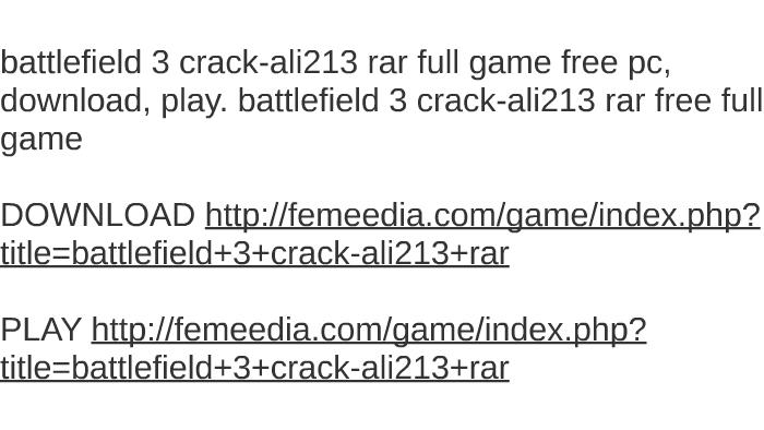 battlefield 3 full crack download