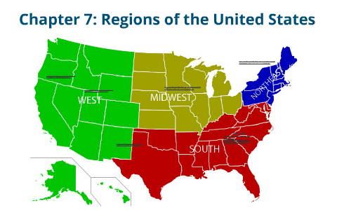 7 Regions Of The United States Map.World Geography Unit 2 Chapter 7 Regions Of The United States By
