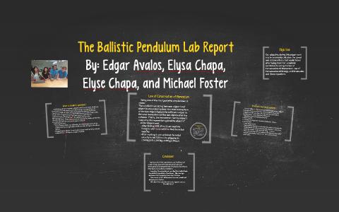 The Ballistic Pendulum Lab Report by Elyse Chapa on Prezi