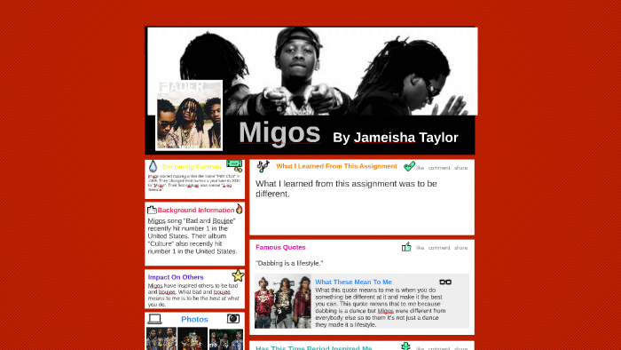 Migos by Jameisha Taylor on Prezi