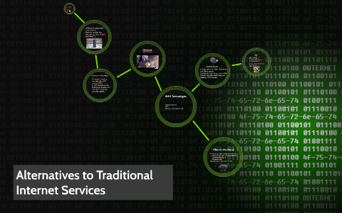Alternatives to Traditional Internet Services by Alex Weil on Prezi