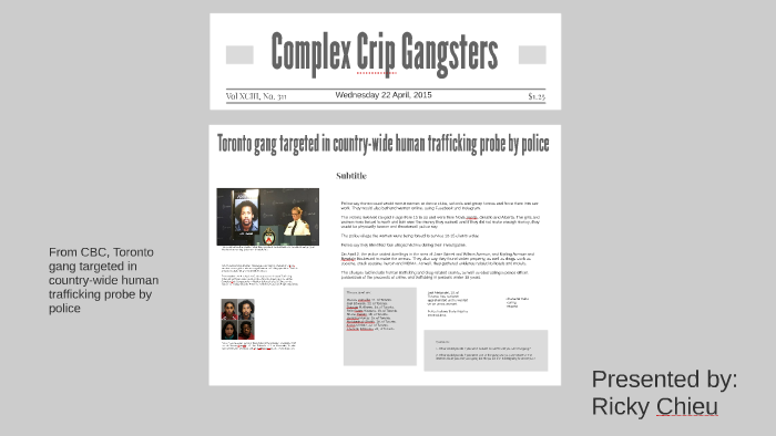 COMPLEX CRIP GANGSTERS by Ricky Chieu on Prezi