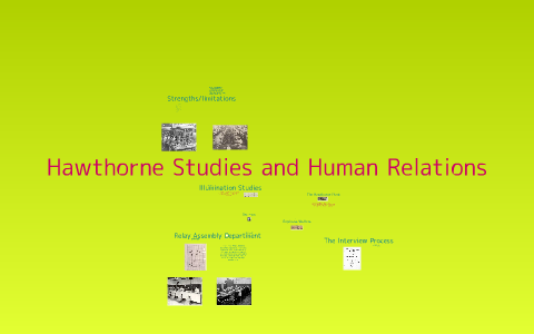 hawthorne studies and human relations