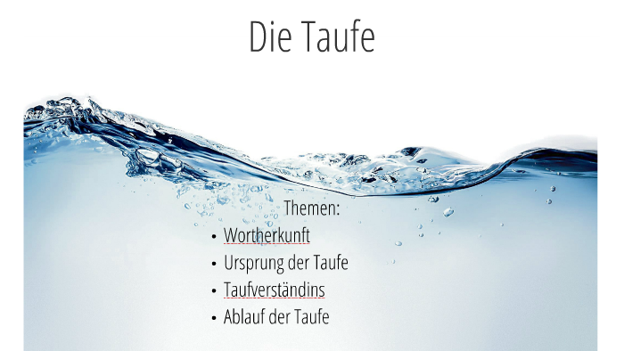 Die Taufe By Hauke Niemann On Prezi