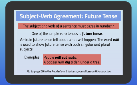 Subject Verb Agreement Future Tense By Ariana De Jesus On Prezi