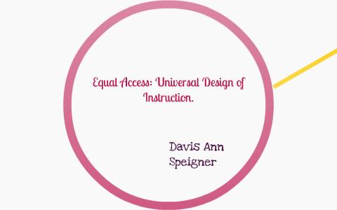 Universal Design Of Instruction By Davis Ann Speigner