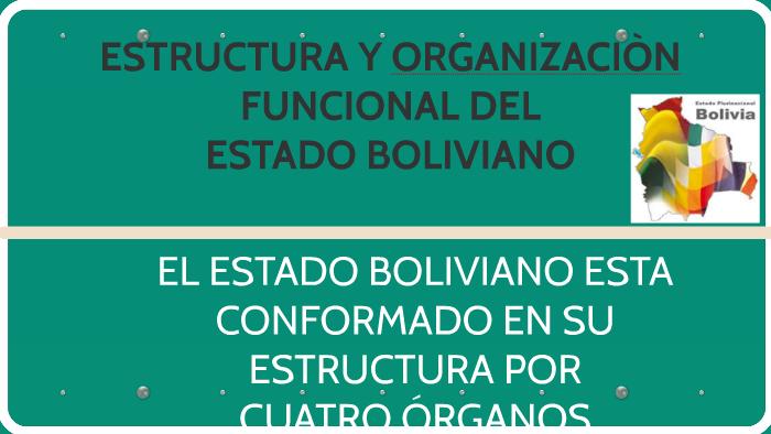 Organización Funcional Del Estado Boliviano By Delmar Apaza