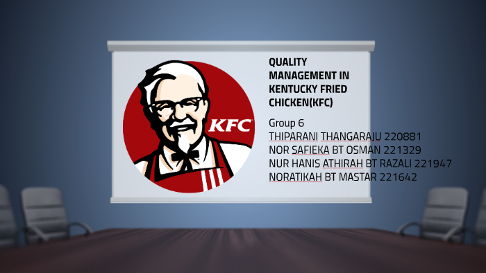 project on principles of management followed by kfc