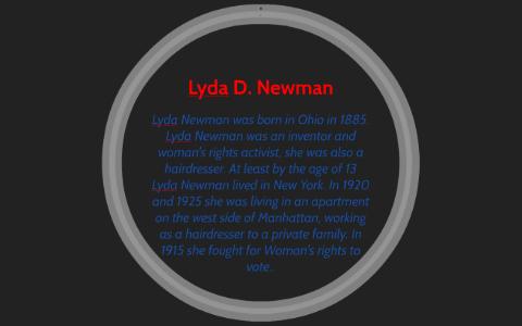 lyda d newman born