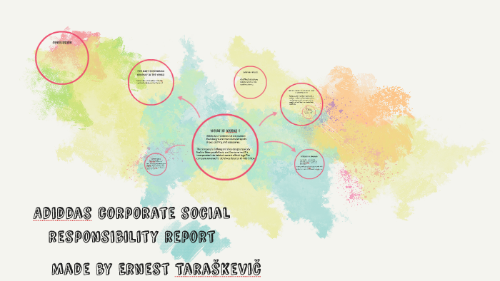 Adidas corporate social responsibility report by Ernest