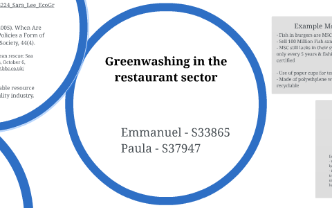 Greenwashing in the restaurant sector by Paula Begere on Prezi