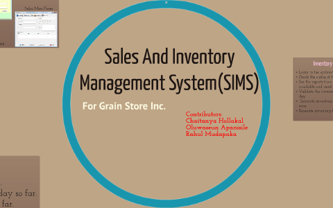 Sales And Inventory Management System Sims By Chaitanya Hollakal