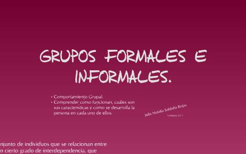 Grupos Formales E Informales By Julia Saldaña On Prezi