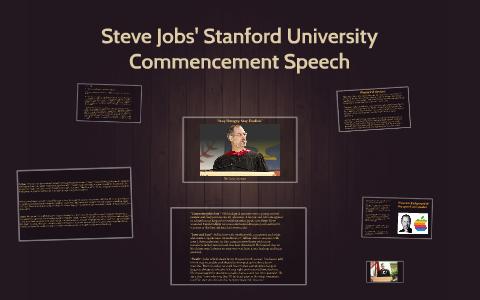 rhetorical analysis steve jobs stanford commencement speech