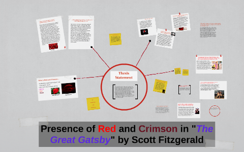 Presence Of Red And Crimson In The Great Gastby By Scott F By Noah
