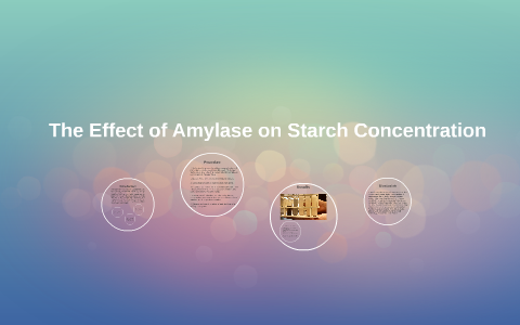 effect of amylase on starch experiment