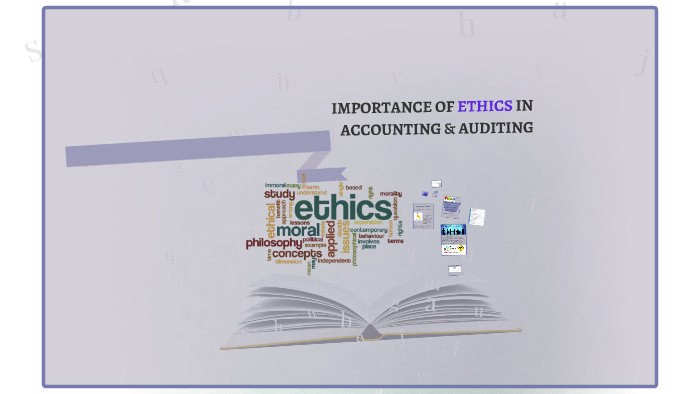 importance of ethics in accounting
