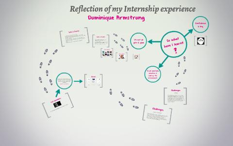 reflection on internship experience