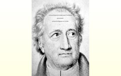 Cultuurhistorischonderzoek Johann Wolfgang Von Goethe By