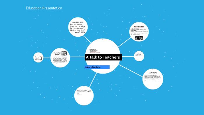 a talk to teachers james baldwin analysis