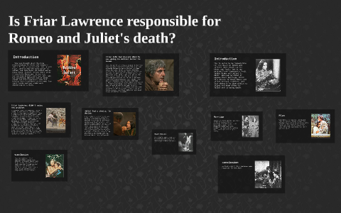who is responsible for romeo and juliets death