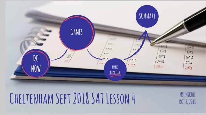 Cheltenham Sept 2018 SAT Lesson 4 by Nicole Thuestad on