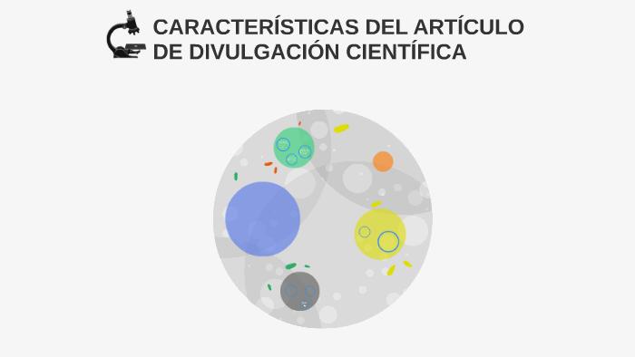 Características Del Artículo De Divulgación Científica By
