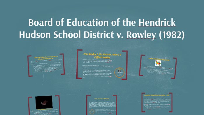 Rowley Fape Standard Some Vs Meaningful >> Bd Of Ed V Rowley By Courtney Hupman On Prezi