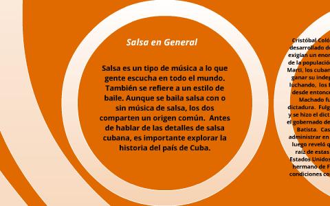 Proyecto de salsa by Elyse Dengler on Prezi