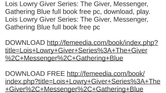 gathering blue free